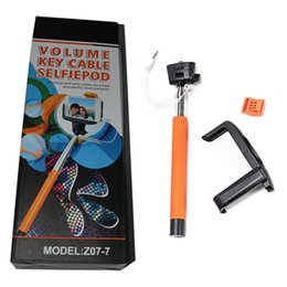 Wholesale good quality KJSTAR Z07 Z07 plus Extendable Handheld Monopod Audio cable wired Selfie Stick take for iphone IOS samsung