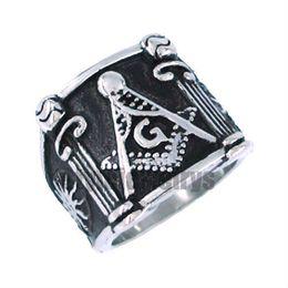 Free shipping! Sun Masonic Ring Stainless Steel Jewelry Ring Classic Freemasonry Masonic Ring Motor ring SJR0019H