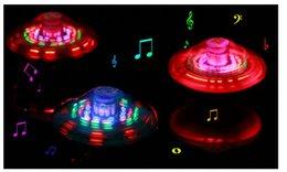 Wholesale Best price Laser Color Flash LED Light Music Gyro Peg Top Spinning Kids Toy