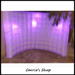 Wholesale DHL shipping with colors changing inflatable wall