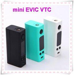 Evic vtc en Línea-100% auténtico Joyetech eVic-VTC mini 60W VW TC mod eVic VTC Mini control de temperatura Ecigarette Mods VS Kbox Mini Kanger Subox Nano
