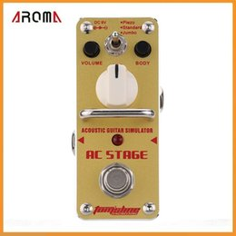 Wholesale AROMA AAS AC Stage Acoustic Guitar Simulator Mini Single Electric Guitar Effect Pedal with True Bypass