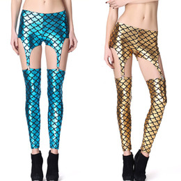 Fashion Mermaid Suspender Leggings Pants 4 Colors Available Free Shipping