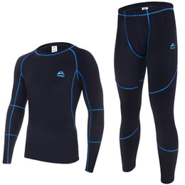 Wholesale Top quality new thermal underwear men underwear sets compression sport fleece sweat quick drying thermo underwear men clothing