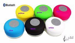 Wholesale Mini Waterproof Dustproof Speaker Wireless Bluetooth Portable speakers Handsfree Receive Call Shower Suction Cup speakers colors