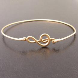 2015 Europe and the United States Hot Sale jewelry Treble Clef Bracelet Treble Clef Bangle free shipping YPQ0082