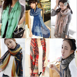 Wholesale Long Scarf Wraps Scarfs Winter Spring Autumn Warm Gradient Wrap Multi Fashion Colors Shawl For Women