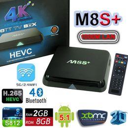 Wholesale 2016 Newest Android TV Box M8S M8S Plus Amlogic S812 Quad Core K Smart Mini PC G G Bluetooth Wifi M LAN D Media Player XBMC Kodi M8
