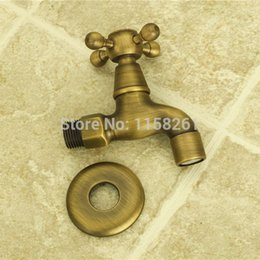 Wholesale Garden Antique Brass Finish Bathroom Wall Mount Washing Machine Water Faucet Taps bath furniture ZLY