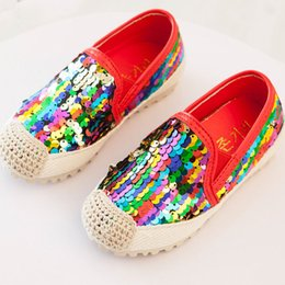Children Big Girls And Boys Casual Shoes Colorful Sequin Sneakers Shoes Spring Autumn Flats Shoes Kids Boutique Running Sport Shoes ZJ S08 online