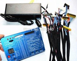Version améliorée coque métallique portable TV / LCD / LED outil de test LCD testeur de panneau support 7 -55