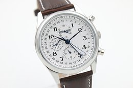 Wholesale Automatic Mechanical White Dial Men s Sport Wristwatch Master Collection Leather Male Watch Relojoes