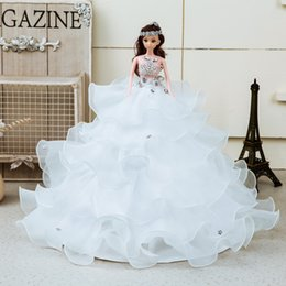 Wholesale Lovely Cute Toys Handmade Bride Porcelain Doll Veil Wedding Fashion Gift Limited Edition Home decoration