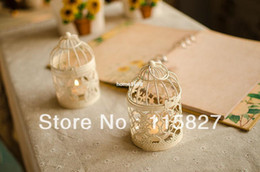 Wholesale Classical design Iron Candle Holder Weddings lantern Candle Holder Bird cage shape candle holder wedding gift