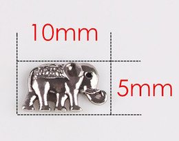 Wholesale 20PCS lot Animal Elephant DIY Charm Beads Floating Locket Charms Fit For Glass Living Magnetic Locket Pendant