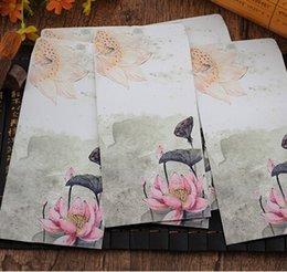 Wholesale 215 MM Vintage Japan style romantic Pink Lotus Series DIY Multifunction Art envelope Postcard bag Gift envelopes dandys