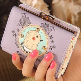 Wholesale-Designer Wallets Famous Brand Women Wallet 2015 New Cartoon Lovely Soil Mouse Embroidery Lace Mini Short Women Wallets Wholesale
