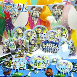 Wholesale Party Decoration SET Toy Story Cartoon Birthday Party Supplies Banquet Theme Sets K507