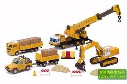 Wholesale Jun Keogh plans US engineering excavator crane tractors alloy toy model kit
