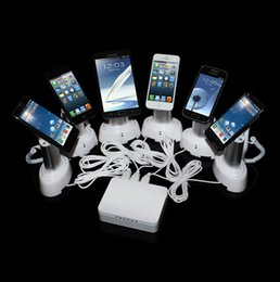 Wholesale 6 ports alarm system for mobile phone display Retail display holder