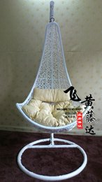Wholesale Rattan chair swing rattan hanging basket rattan rocking chair rattan bird nest chair hanging chair