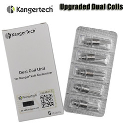 Wholesale 100 Original Kanger Upgraded Dual Coils for kangertech aerotank mega mini protank evod glass T3D Atomizer