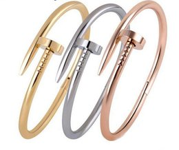 Wholesale Fashion Rose gold nails bracelets are lovers Set auger ms rose gold bracelet jewelry