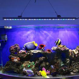 Wholesale Hot selling Waterproof w LED Aquarium Bar Grow Light White Blue UV for reef coral fish tank lighting IP65 aquarium bar lamp