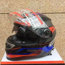 Wholesale ARAI DOT approved with inner sun visor flip up motorcycle helmet safety double lens racing motos helmet casco capacete best