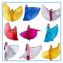Wholesale 9 color pc belly dance isis wings belly dance wings bellydance accessories GOLD SILVER WHITE ROSE RED OCEAN BLUE for children kids girls