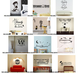 Wholesale Mix Order Removable Vinyl Lettering Quote Wall Decals Home Decor Sticker Mordern art Mural for Kids Nursery Living Room Fast Delivered