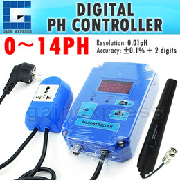 Wholesale PH Digital pH Controller Meter Tester with Optional HI LO Action Replaceable Electrodes Relay Contac pH Range
