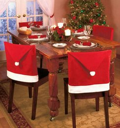 Wholesale Universal Christmas Santa Red Cap Chair Cover Decor Home Dining Table Dinner Christmas Chair Cover Set China Party Gifts Hot Hat