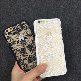 Wholesale Fashion Classic beauty flower pattern Matte Hard Plastic PC Translucent Case Cover For iPhone S S Plus S6 edge plus note