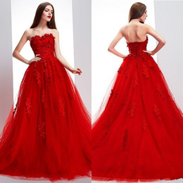 Super Attracting A-line Long Train Red Organza Backless Prom Dresses Long Party Dresses with Appliques Sweetheart Neckline Celebrity Vestido