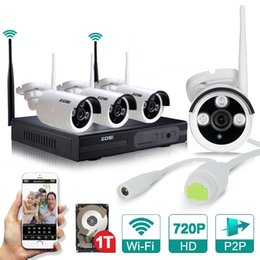 Wholesale New Plug and Play Wireless NVR with TB HDD Kit P2P P HD Outdoor IR Night Vision Security IP Camera WIFI CCTV System