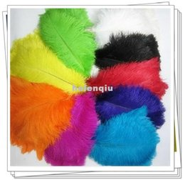 Wholesale 100pcs lot 6-8 inch 20-25 cm artificial ostrich feathers bulk for diy indian headband wedding decoration craft