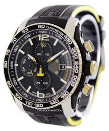 New Fashion men quartz stopwatch sport style chronograph watches for men Rubber strap 008