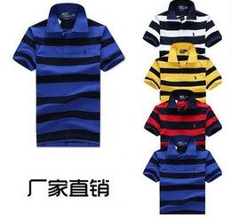 Wholesale Men Classic Striped Polo Shirt Cotton Short Sleeve NEW Arrived summer Plus size M XXL