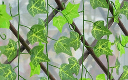 Wholesale Brand New Artificial Ivy Leaf Garland Plants Vine Fake Foliage Flowers Home Decor