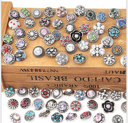 Wholesale NOOSA mm ginger snap jewelry mix styles mini crystal rhinestone noosa chunks button snaps for bracelets high quality wholesales