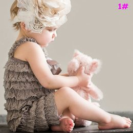 Wholesale Baby lace romper Vintage shabby chic lace set aqua and pink lace romper set Baby Girl Photo Prop