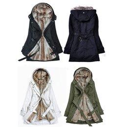 2017 hoodie de la fourrure pour les femmes Gros-épais Faux Capuches de fourrure de la fourrure doublure femmes hiver chaud à long fourrure à l'intérieur des vêtements veste manteau de coton parkas thermiques Livraison gratuite hoodie de la fourrure pour les femmes ventes