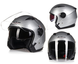 2016 New model JIEKAI 512 half face double lens Harley style motorcycle  motorbike helmet of ABS FREE SIZE 55-60 cm