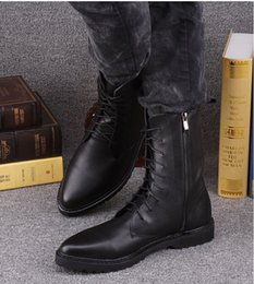 Wholesale 2014 new fashionable male military equipment Martin boots shoes boots male han edition motorcycle pointed boots