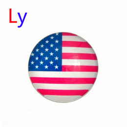 Wholesale Hot Sale Snap Jewelry Button For Bracelet Necklace Fashion DIY Jewelry Crystal Snaps National Flags Buttons AC043