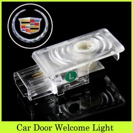 Wholesale ABS Car Projectors Shadow Ghsot Light Car Door Welcome Led Logo Lamps Lasers Courtesy Light Car Decoration Fit Cadillac SRX XTS