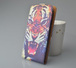 Wholesale-Luxury printing color leather Flip Case For Alcatel One Touch Pop C3 OT 4033D ot4033d cover