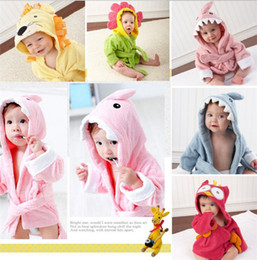 new arrive best price Baby's Bathrobe 7 designs Baby Bath Towels Animal Children Bath Robe Newborn Blankets Bathing Towel Hooded D301