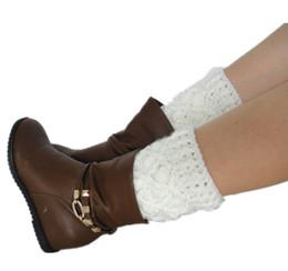 Wholesale Crochet Leg Warmers Boot Cuffs Socks Fashion Homemade Christmas Gifts
